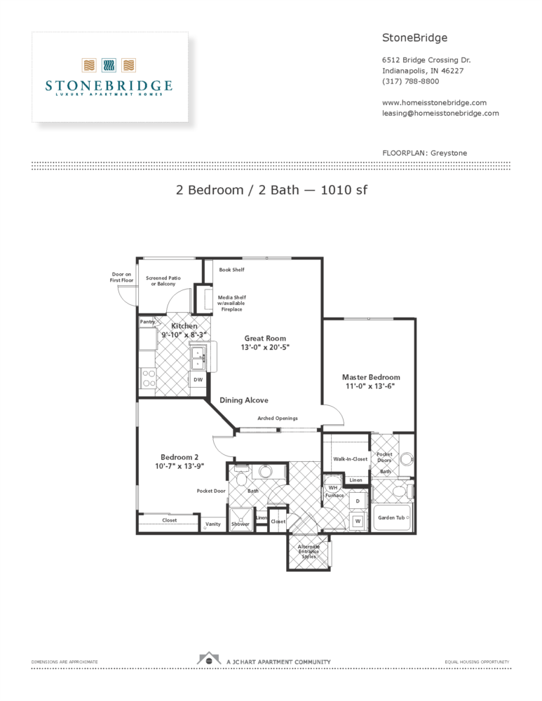 Greystone 2 bedroom floor plan stonebridge luxury for Greystone homes floor plans
